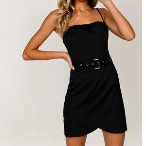 TOBI Stella Black Belted Dress
